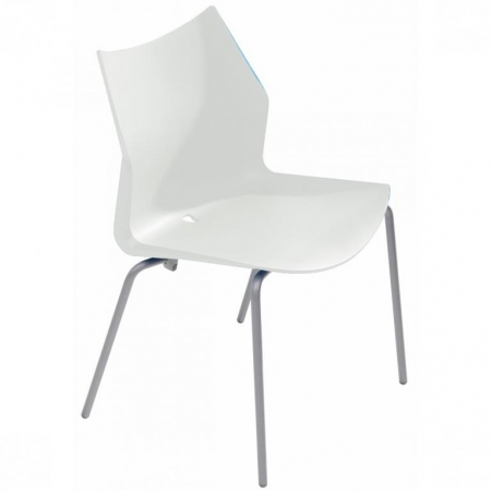 Silla fija sin brazos  de carcasa con asiento tapizado mod. Tenzing-1