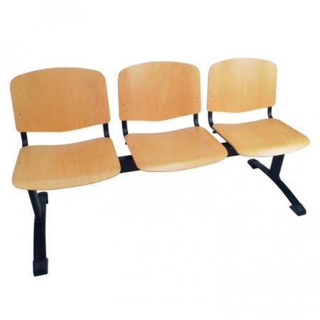 Bancada con asiento y respaldo en madera de haya Sfera Madera