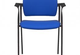 Silla fija con brazos,asiento y respaldo tapizado, Md. Dream