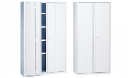 Armarios metálicos serie FA con puertas batientes, plegables y corredera