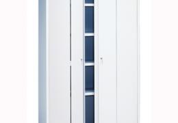 Armario con puertas plegables de 198x120x42 cm.