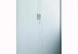 Armario con puertas de persiana de 198x100x45 cm.