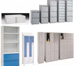 Armarios metálicos, archivos, planeros y taquillas