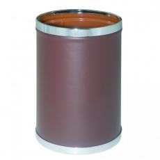 Papelera metálica forrada en vinilo marrón o negro mod. 93