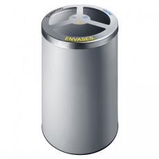 Papelera de reciclaje selectivo con 3 contenedores mod. 155