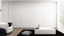 Frente corredero lacado blanco sistema Inline