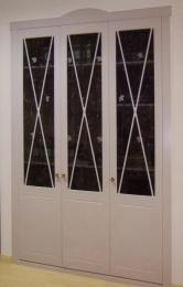 Frente de armario abatible Aspas lacado blanco