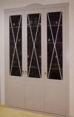 Frente de armario abatible aspas lacado blanco puertas - Armarios lacados en blanco ...