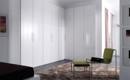 Armario lacado blanco con puertas abatibles y costados - Armario madera blanco ...