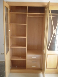 Interior de armario de haya módulo baldas y...
