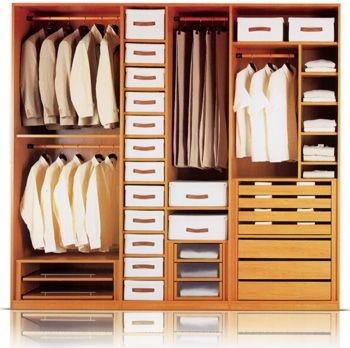 Módulos de ropa corta dos barras- ropa larga y balda - y cajoneras