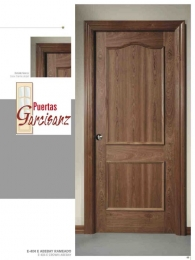 Puerta blindada provenzal en sapelly rameado