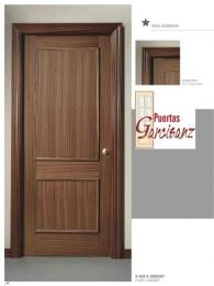 Puerta blindada recta dos cuadros en sapelly