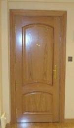 Puerta Blindada Mod. 56 con Biselado en roble