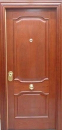 Puerta blindada 70 biselado sapelly Rameado
