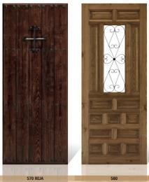 Puerta de entrada mod. 570 Reja y 580