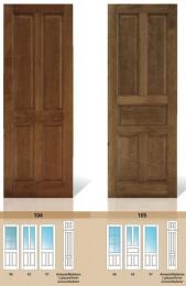 Puerta maciza de pino Serie 104 y 105