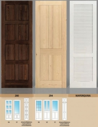 Puerta maciza Serie 280 - 294 y Mayorquina
