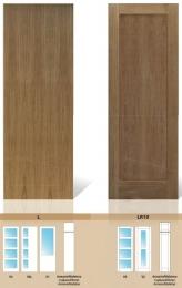 Puerta maciza de pino Serie L y LR10