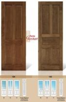 Puertas de madera maciza de bodega y rústicas