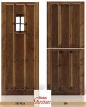 Puertas de entrada Madera maciza iroko - Pino