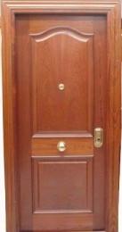 Puerta blindada provenzal biselada en sapelly...
