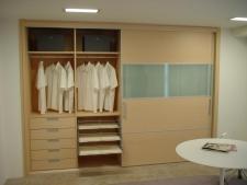 Interior de armario melamina maple 19 mm con...