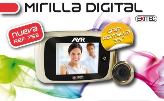 Cómo instalar una mirilla Digital Exitec De AYR en puerta de entrada