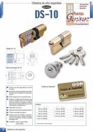 Bombillo cilindro De Seguridad DS-10 antibumping...