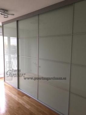 Frente de armario de puertas correderas cristal blanco - Frente armario corredera ...