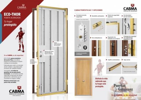 Nuevo catálogo, características y acabados Puerta Acorazada Eco Thor Cabma en Valladolid