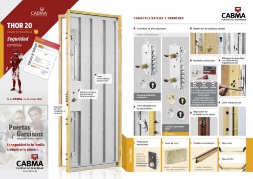 Nuevo catálogo, características y acabados Puerta Acorazada Thor 20 grado 3 Cabma en Valladolid