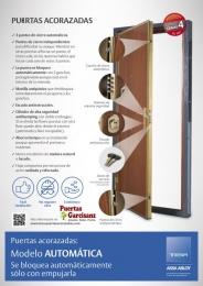Puerta Acorazada Automática Grado 4 antiefracción...