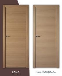Puerta de madera Lisa Veta horizontal Mod. L-110