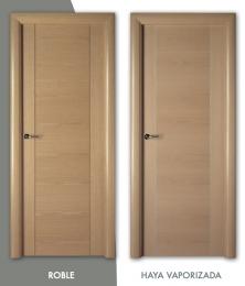 Puerta de madera con greca Mod. L-230
