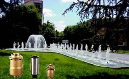 Fuentes modulares para parques y jardines e interiores