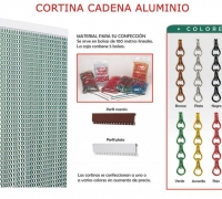 CORTINA CADENA DE ALUMINIO