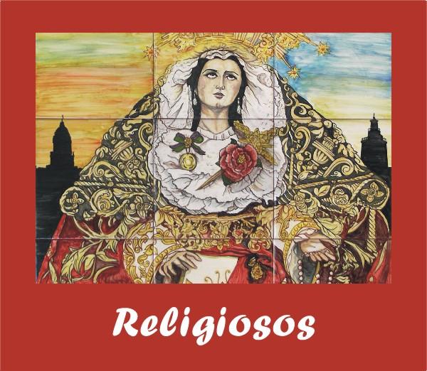 murales religiosos de oferta, virgen y cristo
