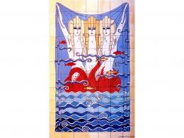 mural,ceramico,mosaico,azulejos,reproducción,erté