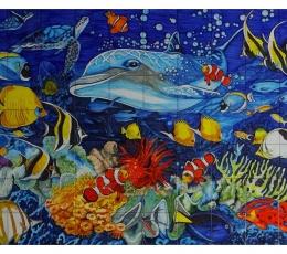 mural,azulejos,ceramica,marino,peces,mar