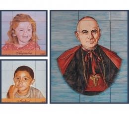 mral,azulejos,ceramica,retrato,pintado,mano
