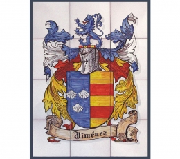 mural,ceramica,pintado,mano,heraldica,escudo