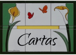buzon,cartas,ceramica,pintado,mano