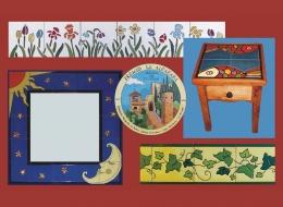 Cenefas,Platos,Mesas,espejo,ceramica,pintado,mano