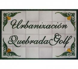 azulejo,mural,cerámica,rotulo,urbanizacion