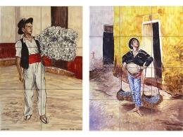 """Mural de azulejos de cerámica """"Biznaguero"""""""