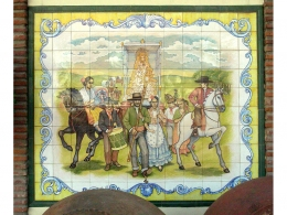 Mural cerámico decorativo de azulejos