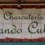 Rótulo de azulejos de cerámica Charcutería