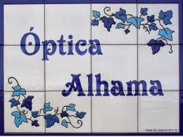 Rótulo de azulejos de cerámica Óptica