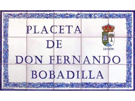 Rótulo de azulejos de cerámica para placeta
